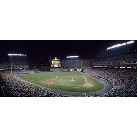 Baseball Game Camden Yards Baltimore MD Canvas Art - Panoramic Images (30...
