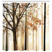 Fall Trees Shower Curtain Extra Long 84 Inch