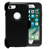 iPhone 8/7 Case, [Full body] [Heavy Duty Protection] Shock Reduction / Bumper Case with Screen Protector for Apple iPhone 7 (Black)
