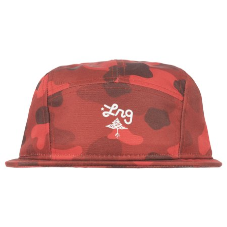 2a23447071e LRG - LRG Lifted Research Group Panda Camouflage 5-Panel Snapback Hat Mens  Red - Walmart.com
