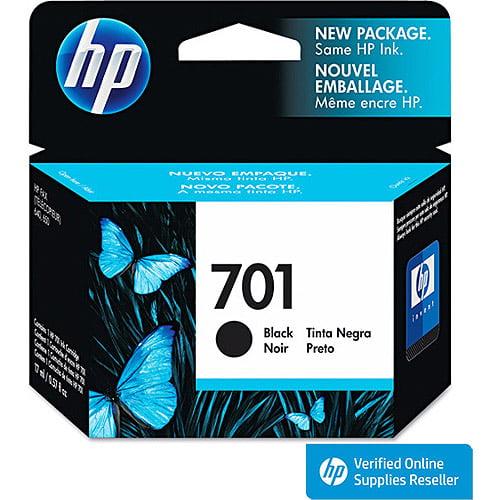 HP 701 Black Original Ink Cartridge (CC635A) by HP