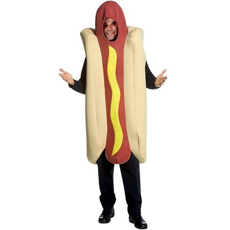 Hot Dog Men's Adult Halloween Costume, One Size, - Hotdog Sandwich Halloween