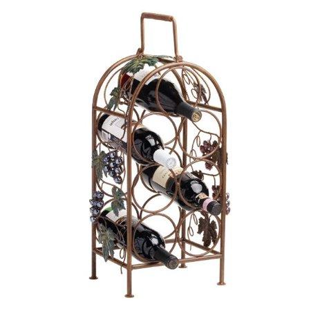 Wine Rack, Classic Grapevine 7 Bottle Storage Standing Rustic Bottle Holder Grapes Wine Holder