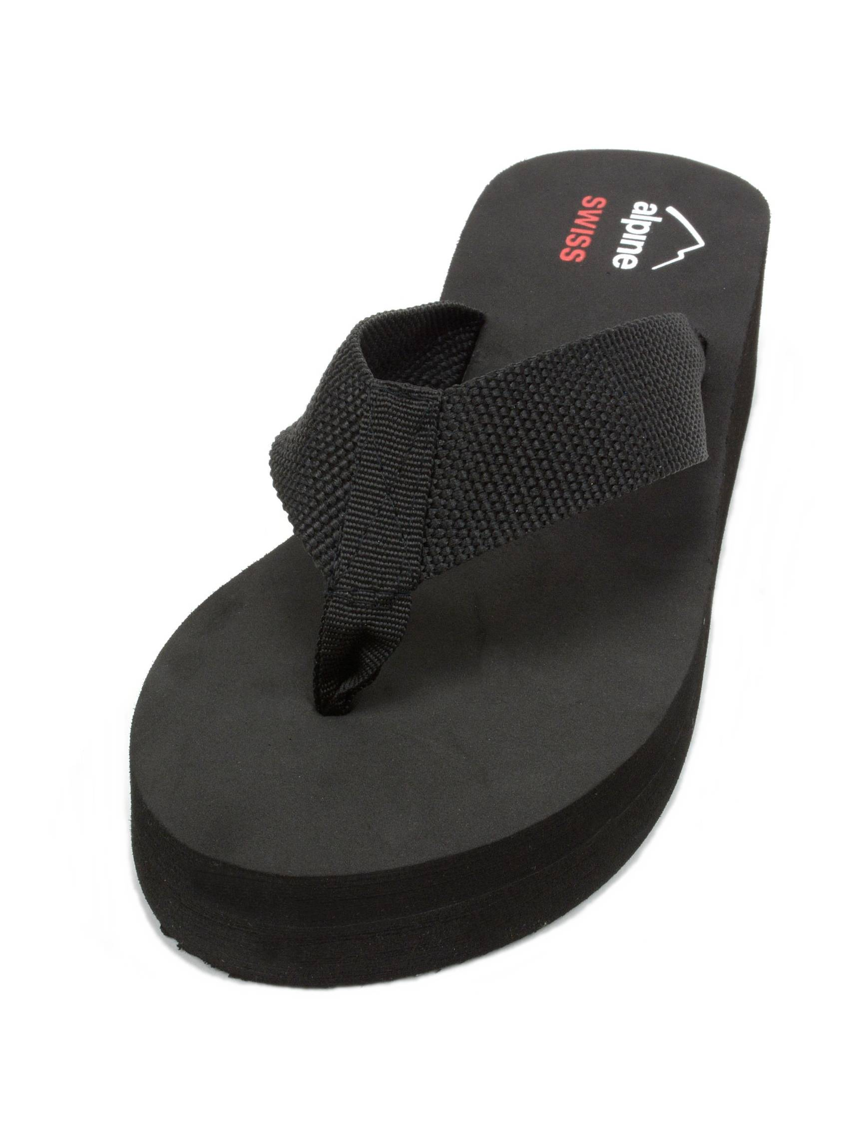 fc80d290df8e alpine swiss - Alpine Swiss Womens Flip Flops Thong Sandals Rhinestone  Wedge High Heel Platform - Walmart.com