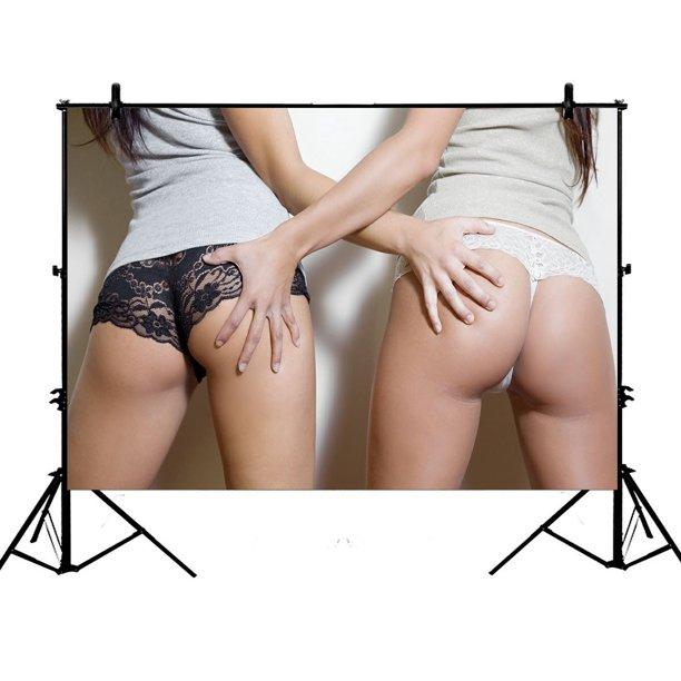 Gckg 7x5ft Sexy Ass Girls Touch Ass Polyester Photography Backdrop