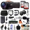 """Sony FDR-AX100 4K Ultra HD Handycam Camcorder Video Camera + 128GB Boardcasting Filmmaker's Package with LED Night Light + Tripod + Monopod + Action Stabilizer + Handgrip + Microphone + More """"4K Ultra HD Video at 30 fps/20MP Stills, 1"""""""" Exmor R CMOS SensorBionz X Processor, Zeiss Vario Sonnar T* Lens12x Optical Zoom & 24x Clear Image Zoom, Optical SteadyShot Image Stabilization0.39"""""""" OLED EVF / 3.5"""""""" XtraFine LCD, High Speed 120 fps RecordingRecords XAVC S, AVCHD, and MP4, Wi-Fi / NFC Connectivity"""""""