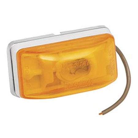 Wesbar 203233 Side Marker And Clearance Light Amber With White Stud-Mount Base, Pc Rated, 3.80 x 2.80 x 1.80 in. - image 1 de 1