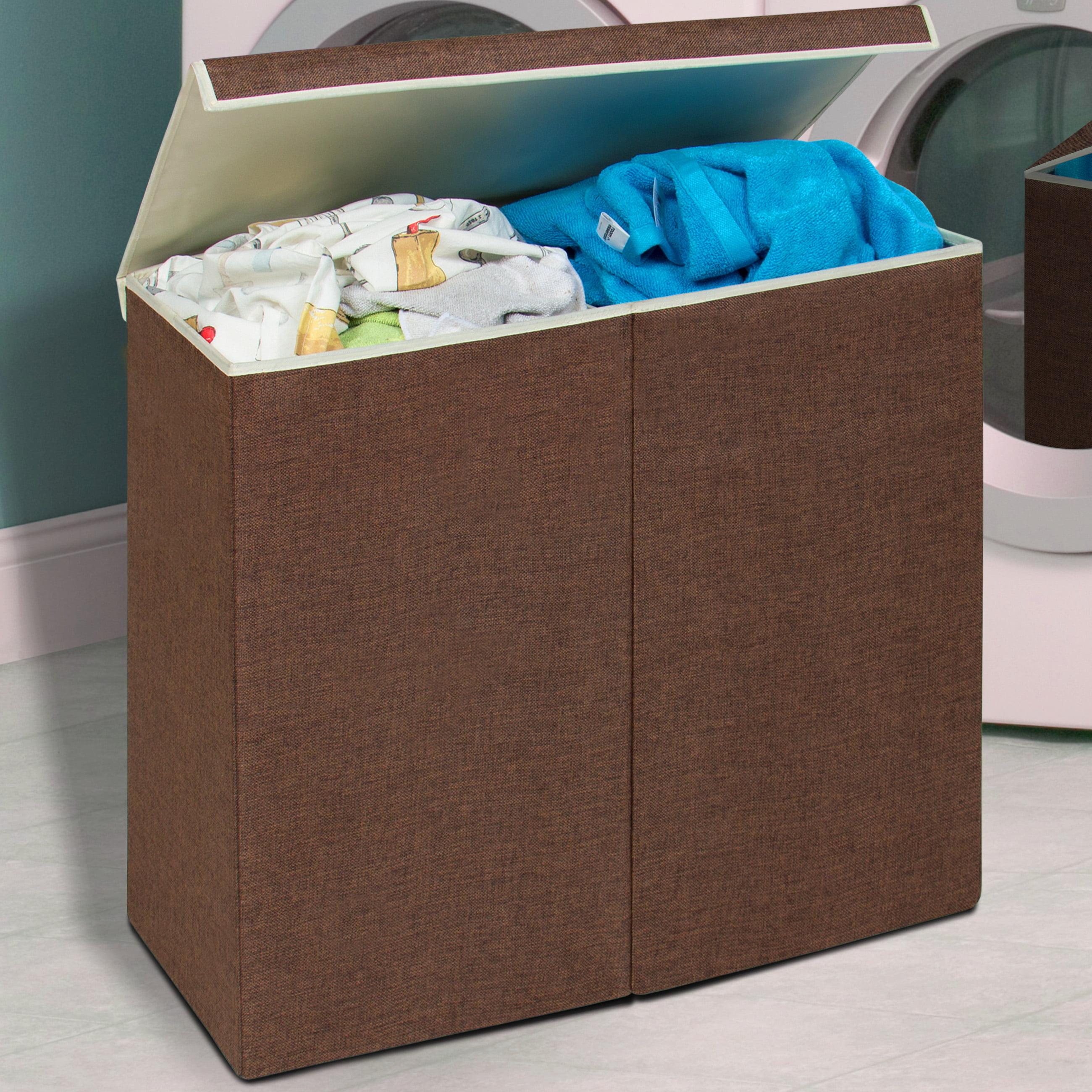 Whitmor Double Laundry Hamper And Sorter Java Walmart Com