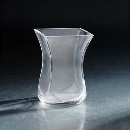 Diamond Star 64134 7 5 X 5 X 5 In  Tapered Square Glass Vase  Clear
