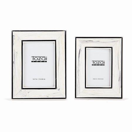 Tozai Home - 4x6 & 5x7 Border Lines Frame Set - Black & White