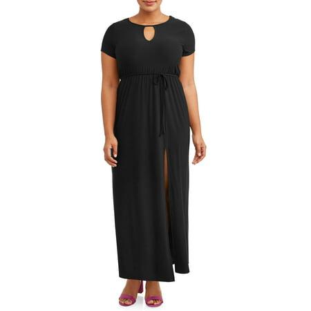 Juniors\' Plus Size Keyhole Maxi Dress