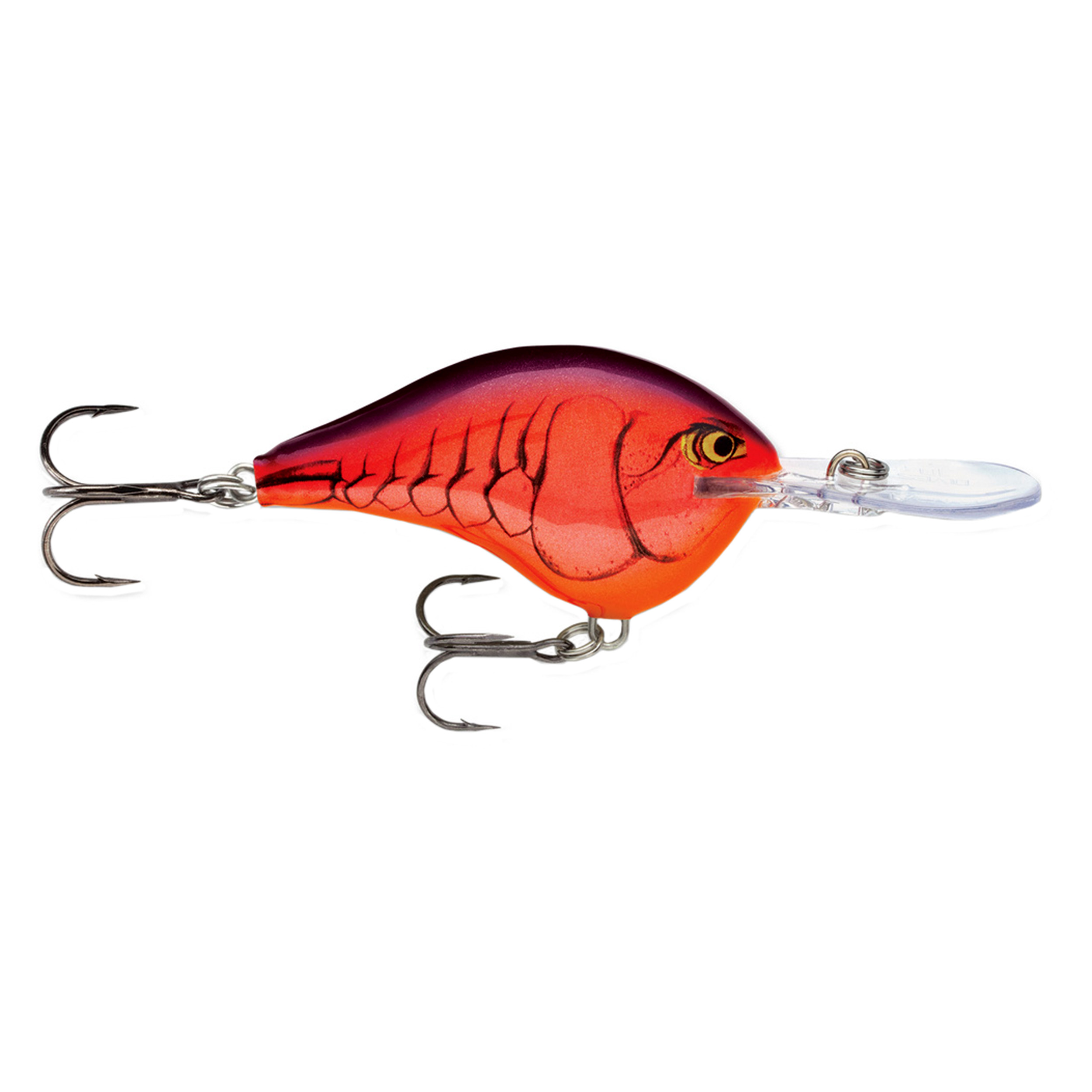 "Rapala Dives-To Series Custom Ink Lure Size 06, 2"" Length, 6' Depth, 2 Number 5 Treble Hooks, Demon, Per 1 by Rapala"