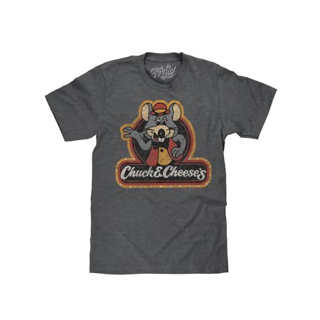 Tee Luv Chuck E Cheese's 70s Graphic Logo Tee Shirt