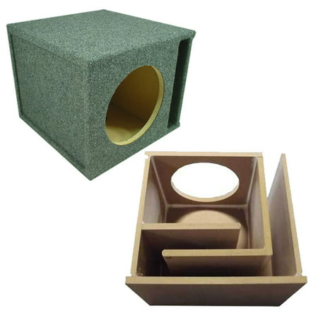 12 Sub Box - Car Audio Slot Ported Single 12 Subwoofer Labyrinth Bass SPL Vented Sub Box