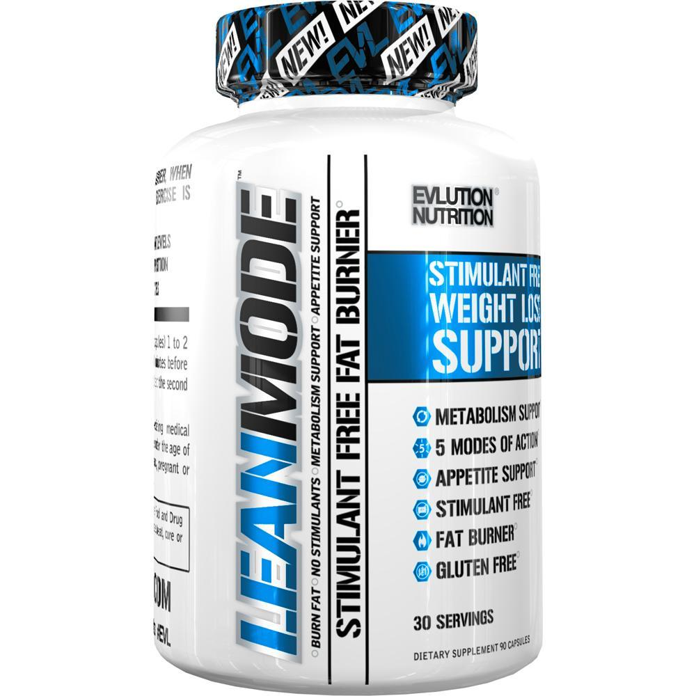 Evlution Nutrition Lean Mode Stimulant-Free Fat Burner Garcinia Cambogia, CLA, and Green Tea Leaf extract, 30 Servings