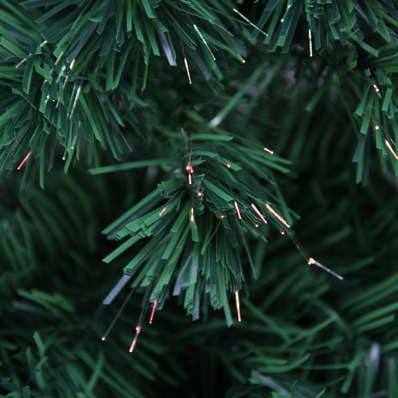 6\' Pre-Lit Color Changing Fiber Optic Artificial Christmas Tree ...