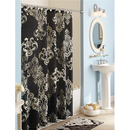 Better homes and gardens traditional elegance shower curtain for Better homes and gardens shower curtains
