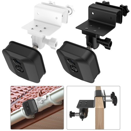 Weatherproof Gutter Mount for Blink XT Outdoor Camera with Universal Screw Adapter- Best Viewing Angle for Your Surveillance