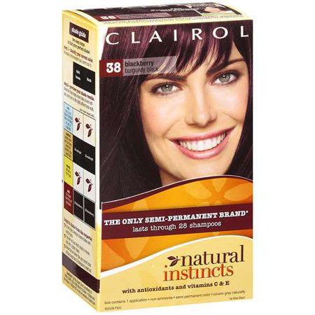 Clairol Natural Instincts: Blackberry Burgundy Black Semi-Permanent Brand Hair -