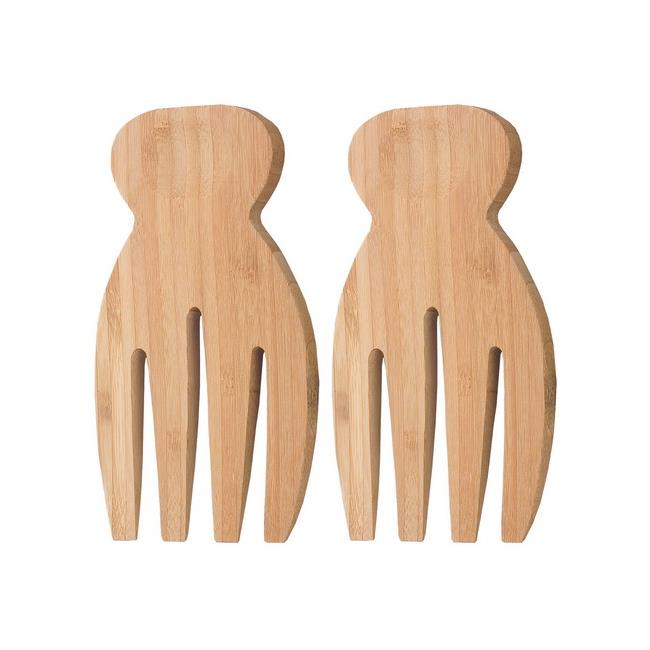 Supreme Housewares 71248 2 Piece 7 inch Bamboo Hand Salad Server - Pack of 24