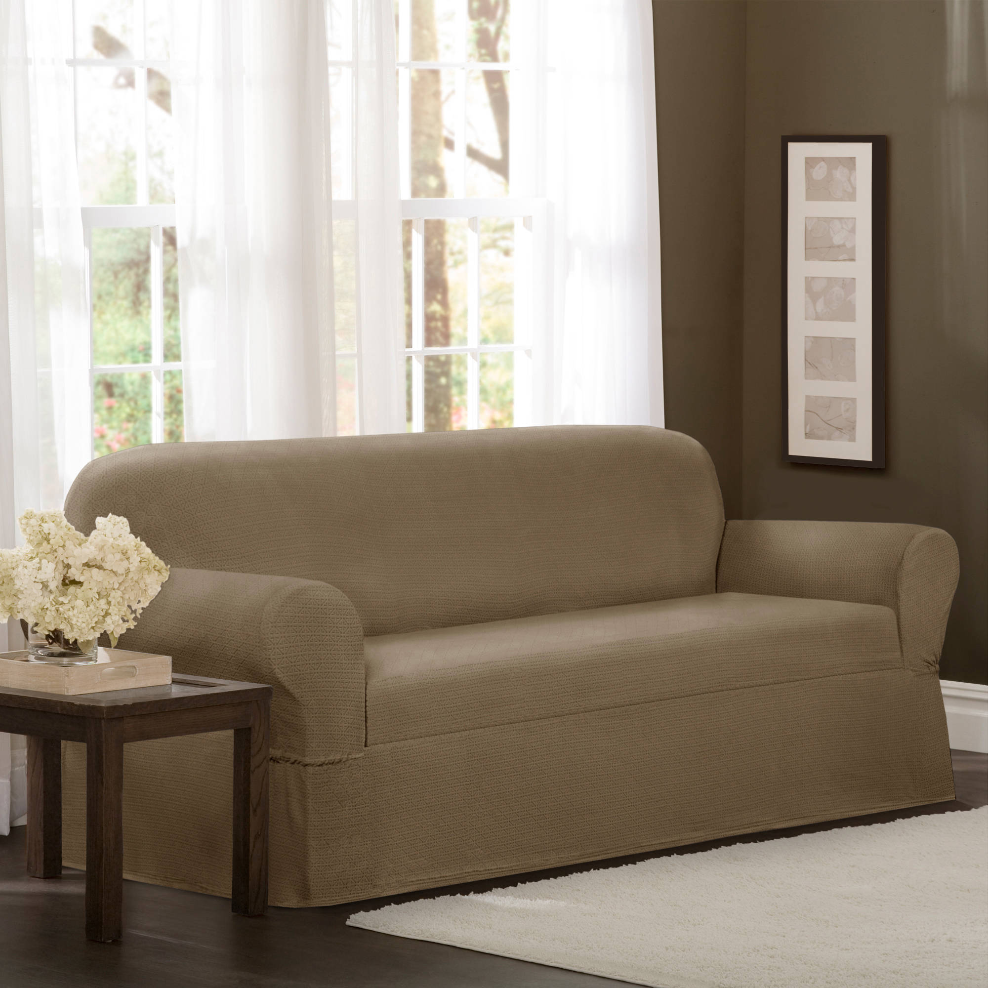 Maytex Torie Stretch Fabric 1-Piece Furniture Slipcover