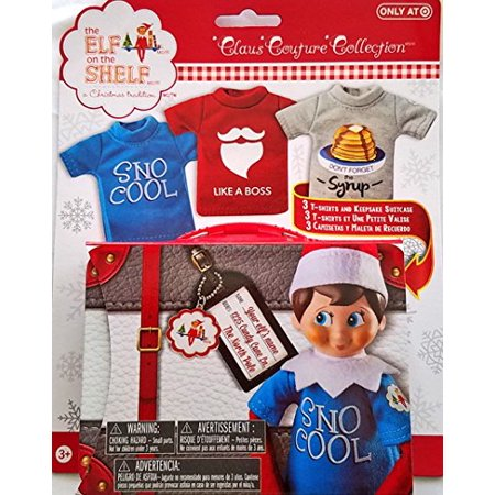 2da50b7ba Elf on the Shelf Graphic Tee Multipack SnoCool 3 elf-sized t-shirts and  keepsake tin suitcase - Walmart.com