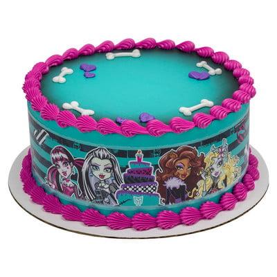 Phenomenal Monster High Edible Photo Image Cake Border Decoration Walmart Personalised Birthday Cards Veneteletsinfo