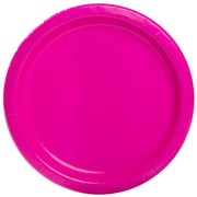 "9"" Neon Pink Party Plates, 55ct"