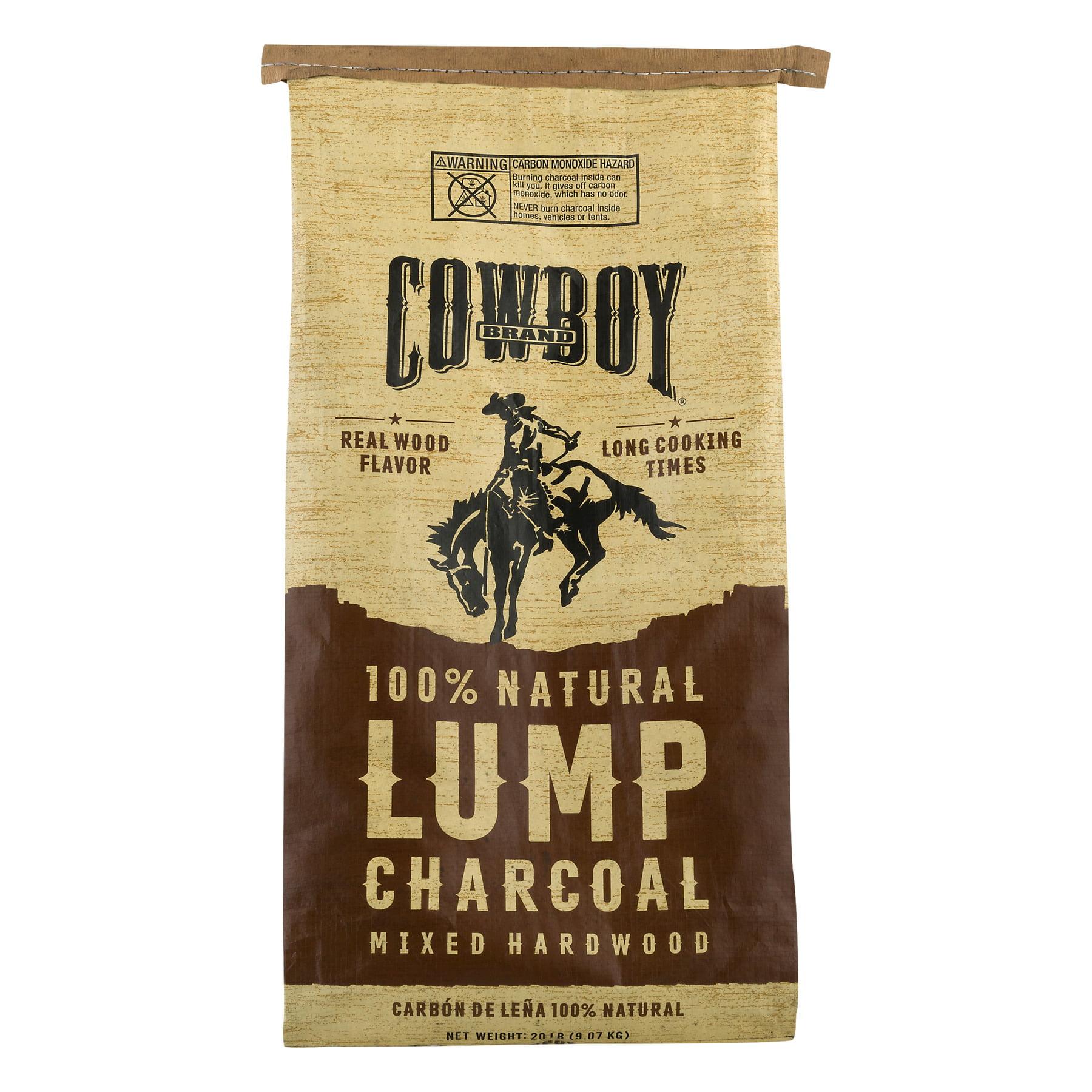 Cowboy 20lb All Natural Long Lasting Hardwood Lump