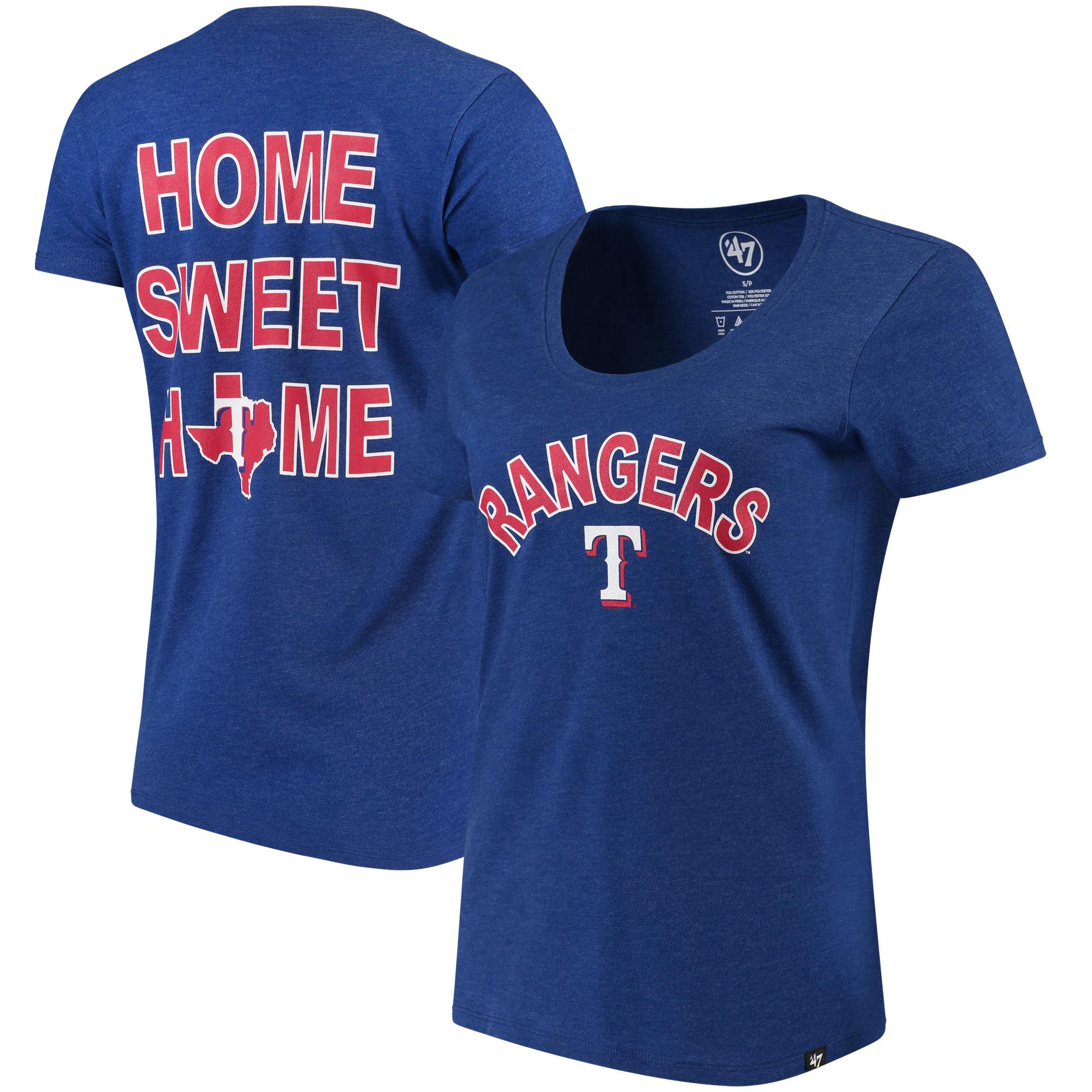 Texas Rangers '47 Women's Club Scoop Neck T-Shirt - Royal