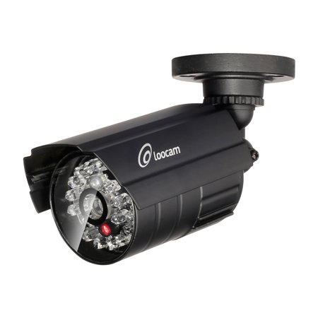 Loocam Indoor Outdoor Imitation Decoy Fake Dummy Bullet Security Camera With Flashing Red Led Light Bullet