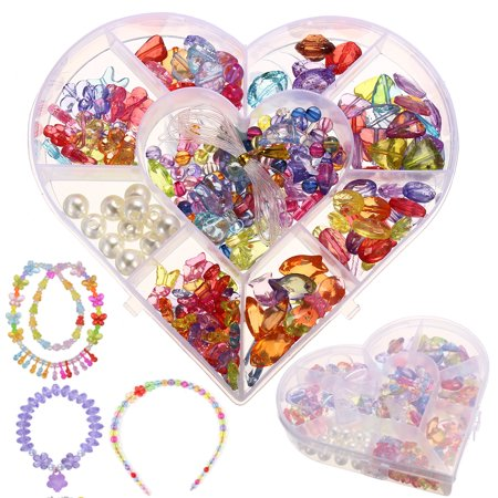 Crystal Series DIY Craft Beads Kit for Girls Kids Birthday Gift Educational Toy (Girly Diy)