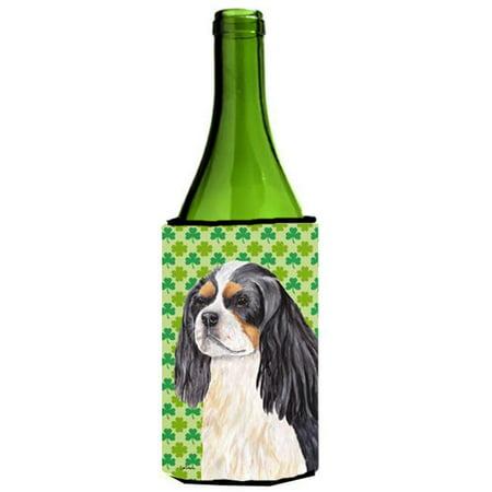 Cavalier Spaniel St. Patricks Day Shamrock Portrait Wine bottle sleeve Hugger - 24 oz. - image 1 de 1