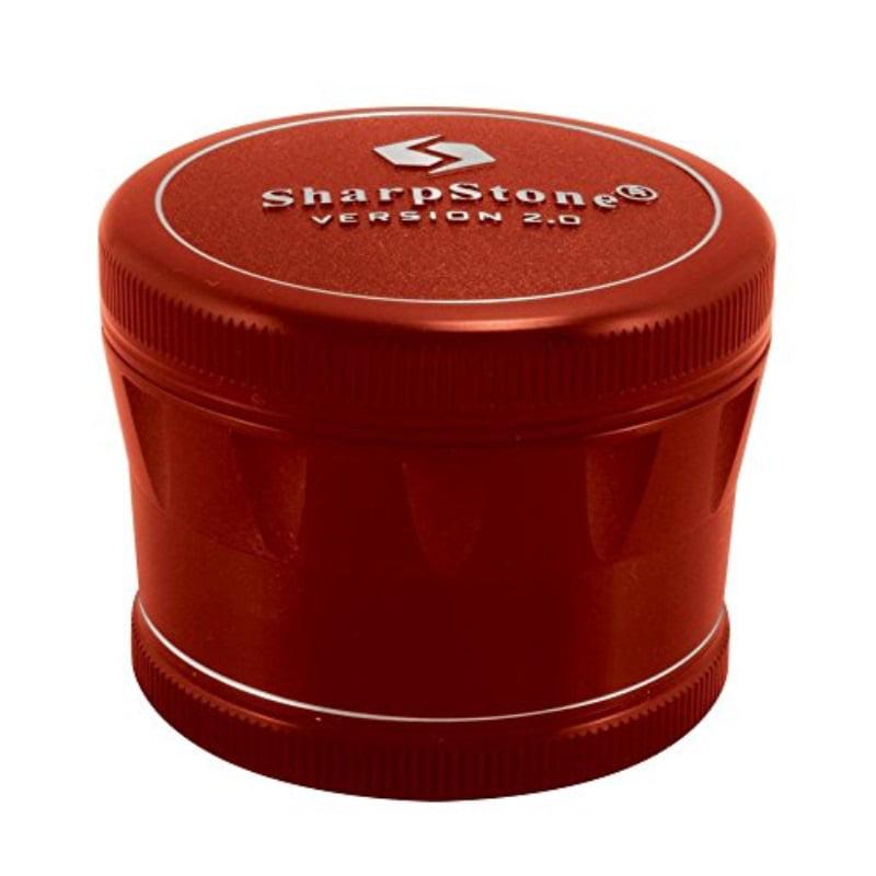 "2.5"" Sharpstone 2.0 4pc Solid Top Grinder - Red"