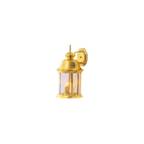 Boston Harbor 3233871 Outdoor Lantern Polished Brass - 16. 25 x 8. 5 inch