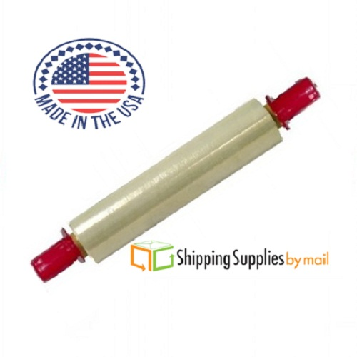 "Clear Plastic Stretch Film Pallet Hand Wrap w/ 24 Red Tension Handle, 20"" x 1000' x 80 Ga 12 Pack"