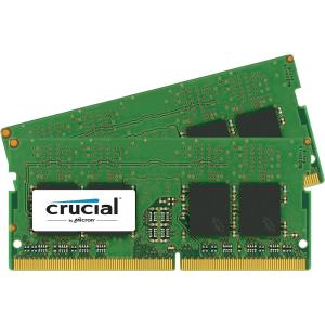 Crucial 32GB Kit (16GBx2) DDR4 2400 MT/s (PC4-19200) DR x8 Unbuffered SODIMM 260-Pin Memory - CT2K16G4SFD824A