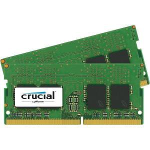 Crucial 32GB Kit (16GBx2) DDR4 2400 MT/s (PC4-19200) DR x8 Unbuffered SODIMM 260-Pin Memory - CT2K16G4SFD824A