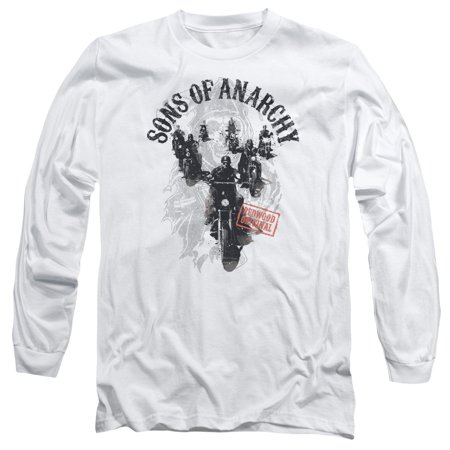 Halloween Son (Sons Of Anarchy/Reapers Ride L/S Adult 18/1 White  )