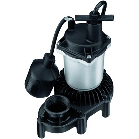 Flotec Sewage Pump (Flotec FPZS33T Submersible Sump Pump With Tethered Float Switch, 3600 gph, 1/3 hp, 115 VAC, 60 Hz)
