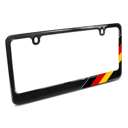 Real Black Carbon Fiber German Flag Off Center In Sports