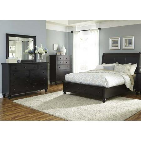 Hilton Bedroom (Liberty Furniture Hamilton III 4 Piece Queen Storage Bedroom)