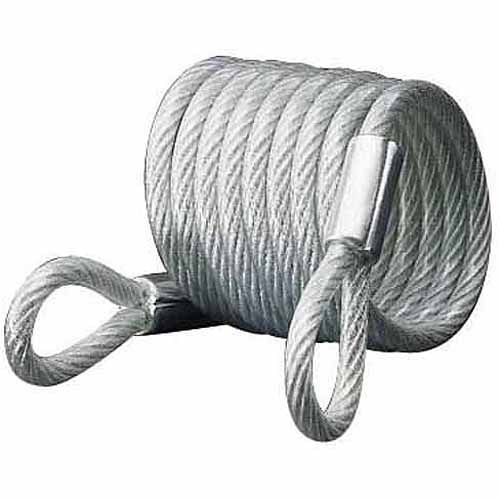 Master Lock 65D 6' Self Coiling Vinyl Coated Cable with Loop Ends