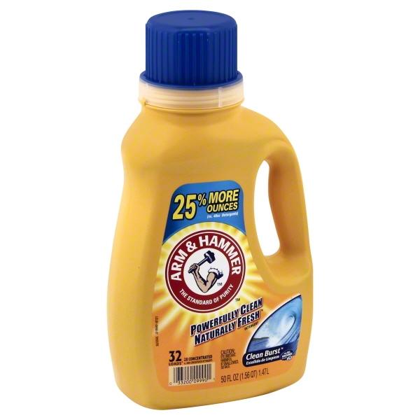 Arm & Hammer Clean Burst Liquid Laundry Detergent, 32 loads, 50 fl oz