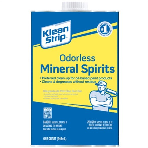 Qksp94005ca Klean-Strip Odorless Mineral Spirits - Quart Metal Carb