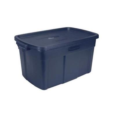 Rubbermaid Dark Indigo Metallic Roughneck Storage Box,31 Gallon by