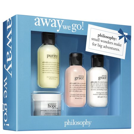 ($46 Value) Philosophy Away We Go! Travel Gift Set for Women, 4 Pc