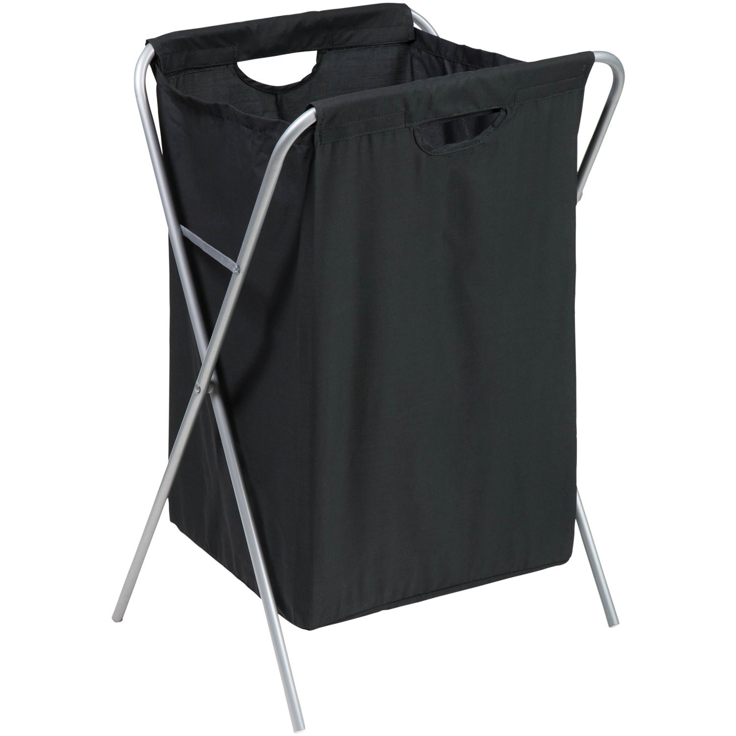 Honey Can Do Folding Nylon Hamper with Steel Frame and Washable Bag