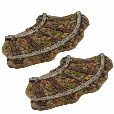 Department 56 Halloween Village Haunted Rails Curved Train Tracks Set 2 4030789