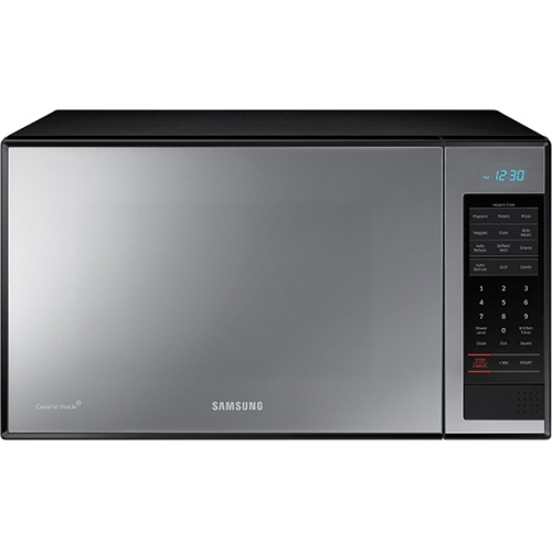 Samsung 1.4 cu ft Counter-Top Grill Microwave with Ceramic Enamel Interior, Black Mirror